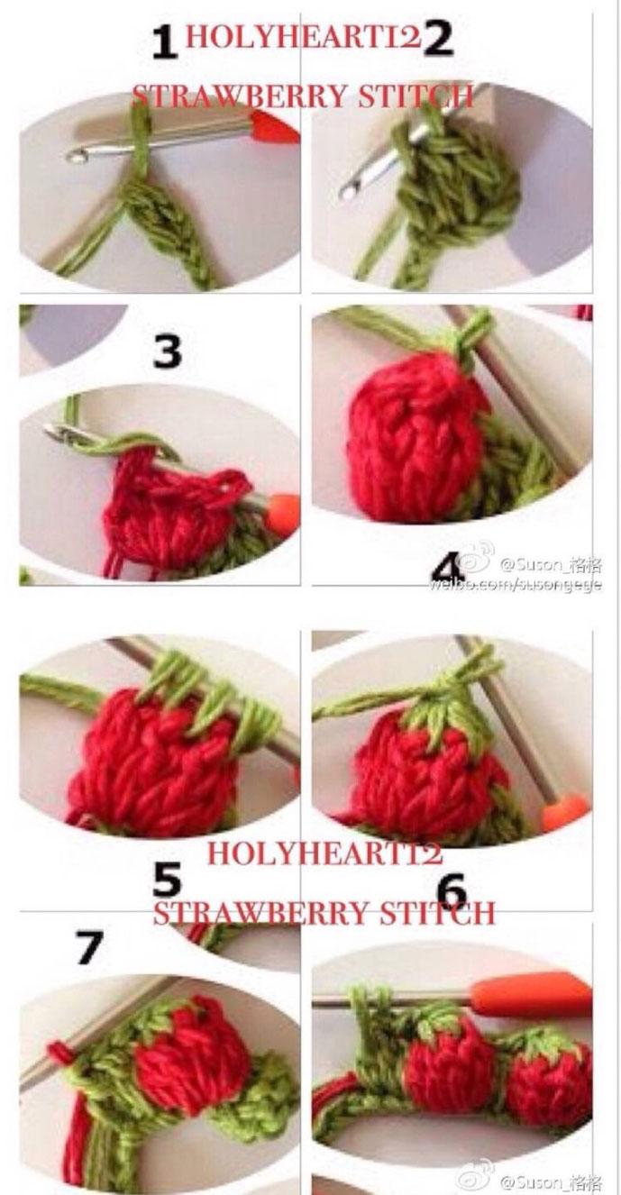 Crochet Strawberry Stitch Tutorial  U22c6 Crochet Kingdom