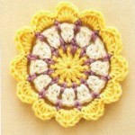 Three Color Circle Crochet Pattern