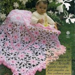 Two color baby crochet blanket