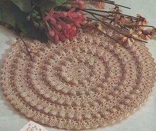 Crochet Bubbled Doily Pattern 1