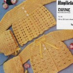 Crochet matinee jacket in shell pattern