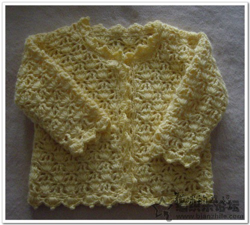 Crochet Flower Cardigan Pattern : Flower pattern long-sleeved cardigan baby crochet pattern ...