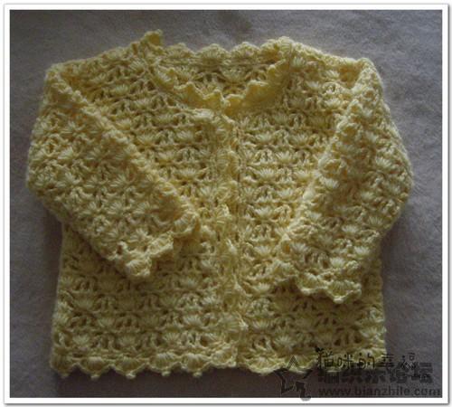 Crochet Flower Cardigan Pattern : Flower pattern long-sleeved cardigan baby crochet pattern ...