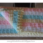 Interesting Textured Striped Crochet Baby Blanket