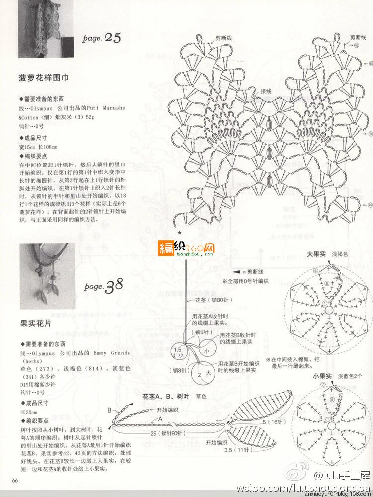 Pineapple flower scarf free crochet pattern 2