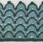 Crochet Fan Stitch in Two Colors