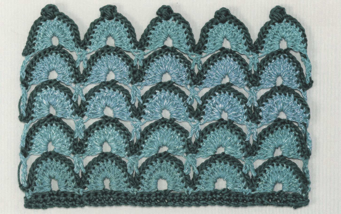 Crochet Fan Stitch In Two Colors Crochet Kingdom