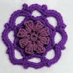 Crochet Circle Motif with Flower