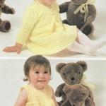 Crochet dress and jacket baby pattern