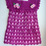 Crochet dress with lovely fantasy stitch
