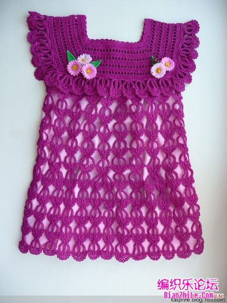 crochet dress with lovely fantasy stitch