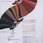 Diagonal Colorful Crochet Scarf Pattern