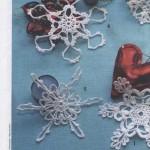 5 Crochet Snowflakes