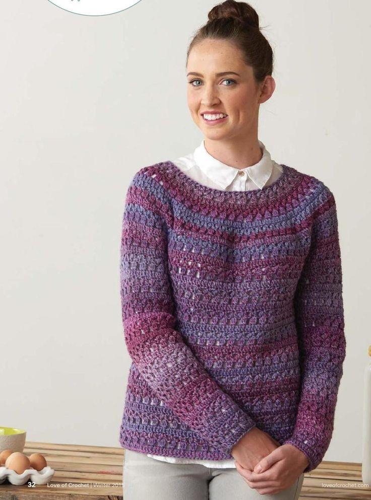 Free Crochet Pattern Sweater Pullover : Cozy Crochet Pullover ? Crochet Kingdom