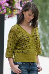 Crocheted Pineapple Top