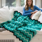 Fringed Zigzag Throw - Free Crochet Blanket Pattern