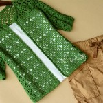 Green crochet cardigan
