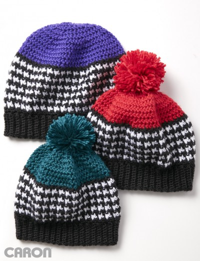 Houndstooth Bright Hat 1