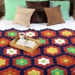 Little Circle Cluster Crochet Afghan