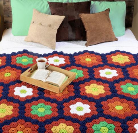 Little Circle Cluster Crochet Afghan ⋆ Crochet Kingdom