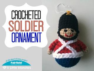 Little soldier ornament free crochet