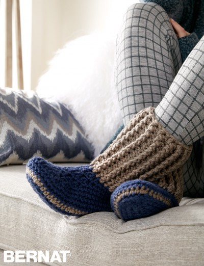 Free Slipper Socks to Crochet