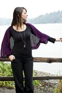 Venezia Worsted Lace Shoulderette Free Crochet Pattern