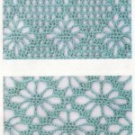 5 Diamond crochet stitches