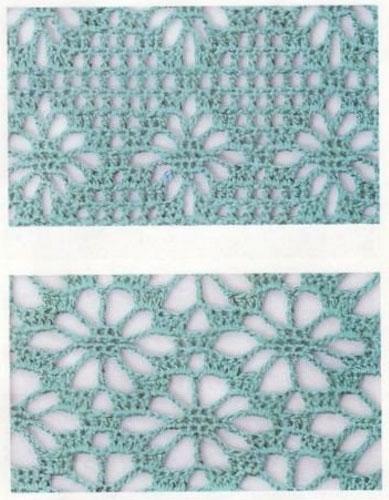5 Diamond crochet stitches