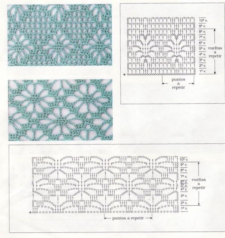 Вязание крючком образцы узоров схемы 96