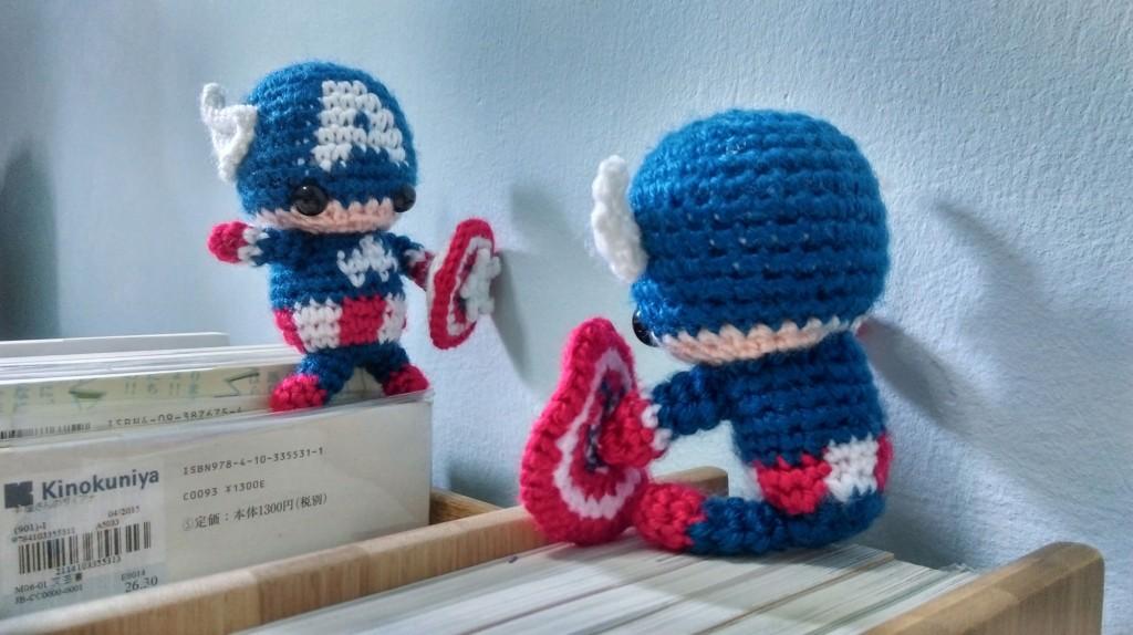 Iron Man Amigurumi Free Pattern : Iron Man and Captain America Amigurumi Crochet Pattern ...