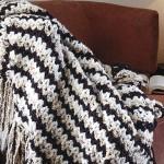 Ikat-style afghan crochet pattern