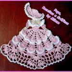 Lady crochet motifs