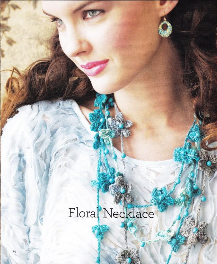 Crochet a Floral Necklace