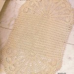 Oval Bath Mat Crochet
