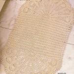 Oval Bath Mat Crochet