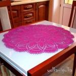 Pink round doily pattern
