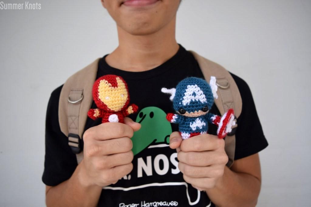 Iron Man and Captain America Amigurumi Crochet Pattern ...