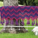 Striped ripple afghan crochet pattern