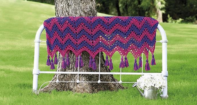 striped ripple afghan crochet