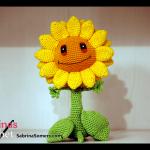 Sunflower (Plants vs Zombies) Crochet Amigurumi Pattern Free