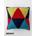 Bernat Bold Angles Pillow Free Crochet Pattern