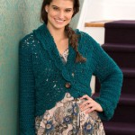Buttoned Lace Cardigan Free Crochet Pattern
