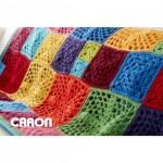 Caron 100 Motif Afghan Free Crochet Pattern