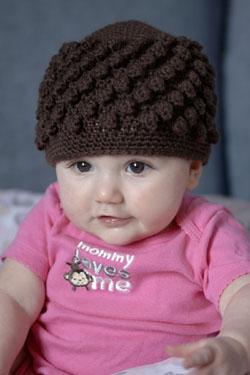 Free Crochet Pattern Baby Reindeer Hat : Bobble Crochet Baby Hat Free Pattern ? Crochet Kingdom