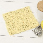 Dandelion Dishcloth Free Crochet Pattern