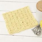 Dandelion Dishcloth Free Crochet Pattern