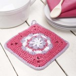 Flower Pot Holder Free Crochet Pattern