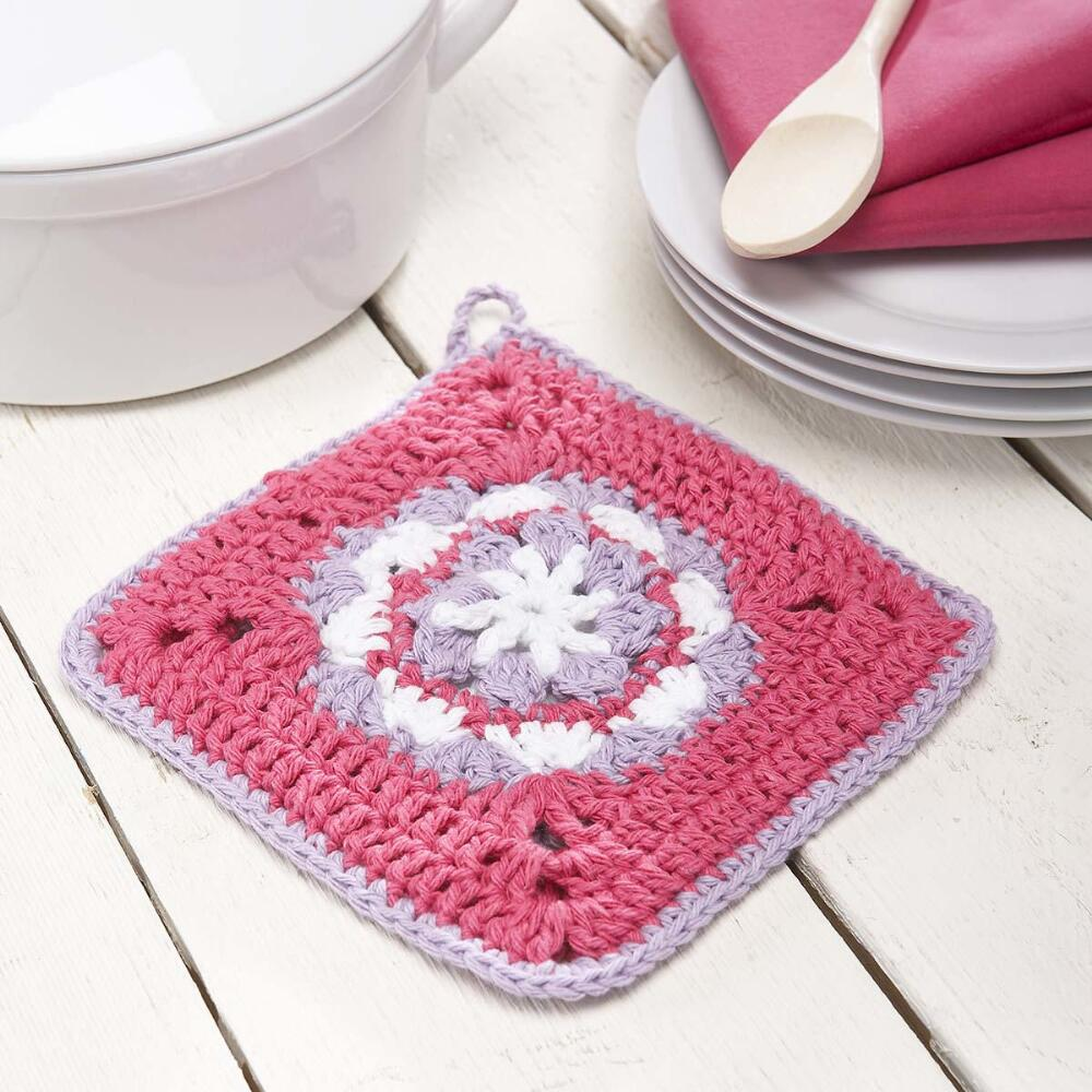 Flower Pot Holder Free Crochet Pattern