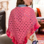 Fringed V-Stitch Shawl Free Crochet Pattern
